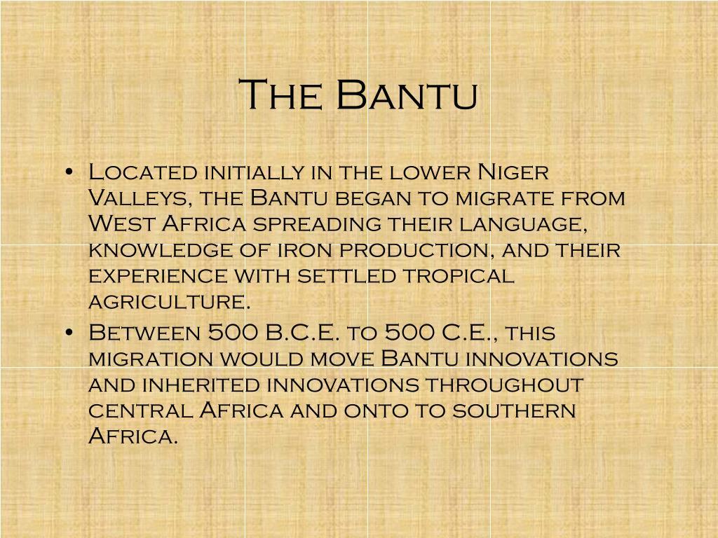 The Bantu