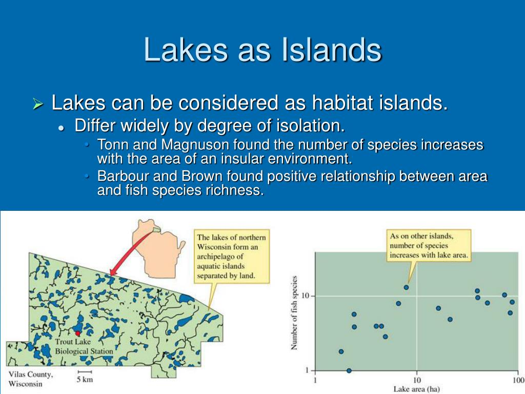 Lakes as Islands