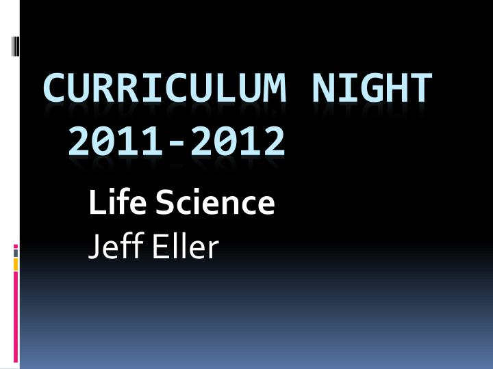 Life science jeff eller