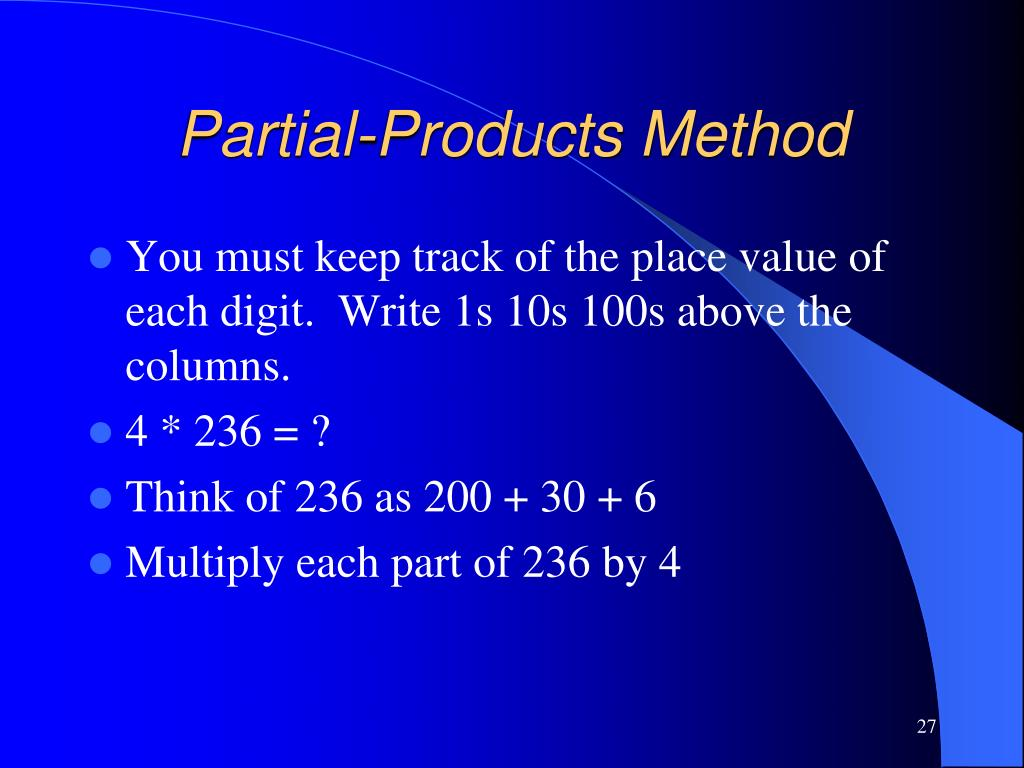 Partial-Products Method