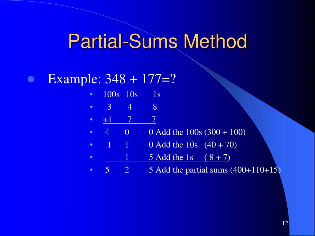 Partial-Sums Method