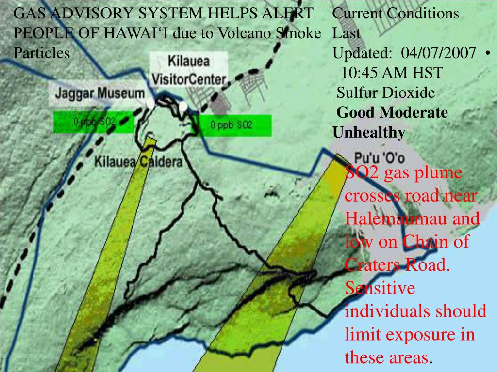 GAS ADVISORY SYSTEM HELPS ALERT