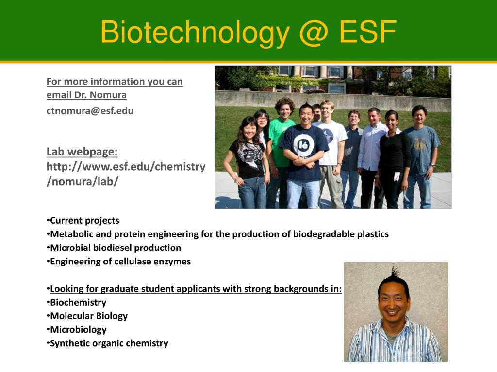 Biotechnology @ ESF