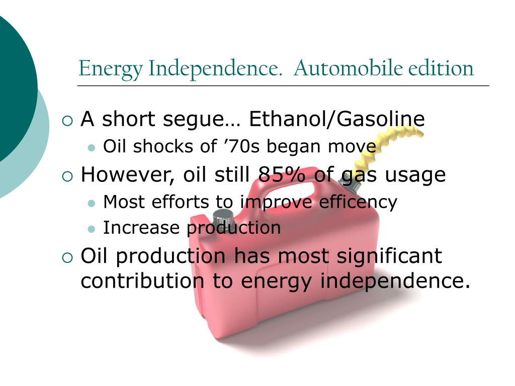 Energy Independence.  Automobile edition