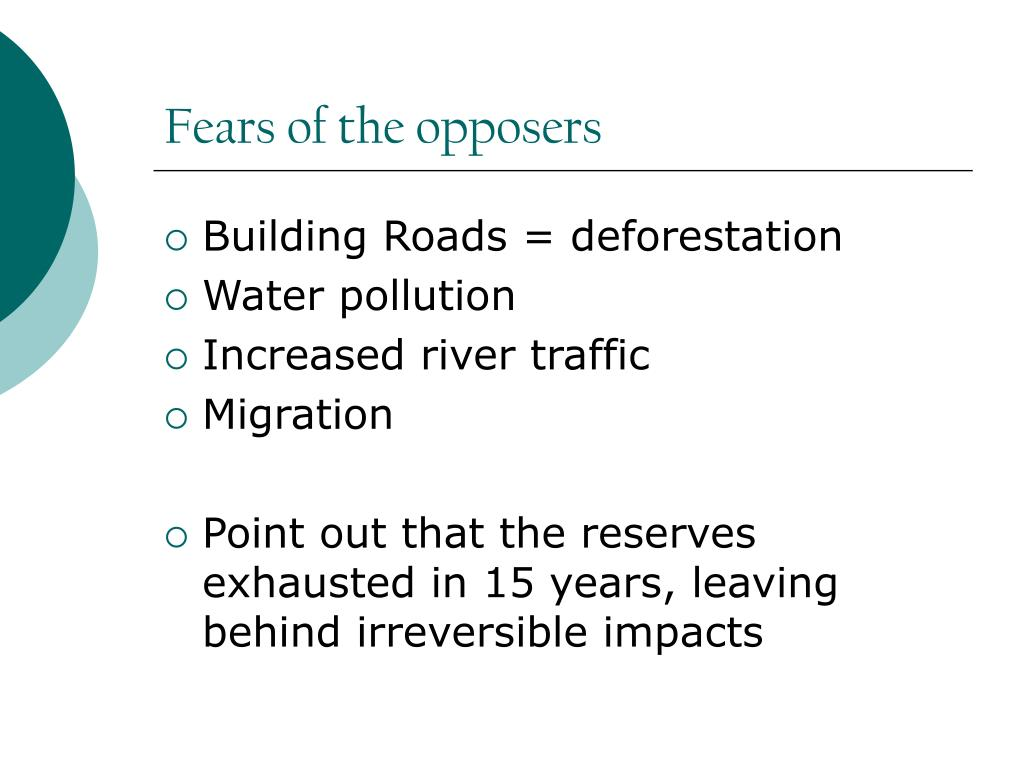 Fears of the opposers