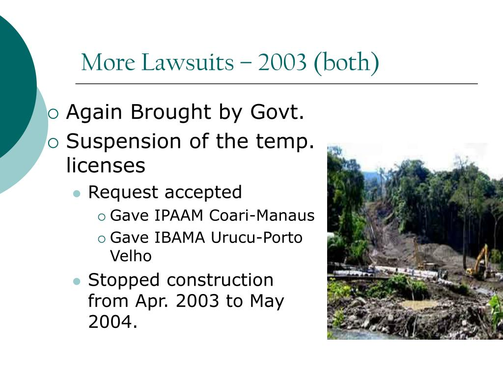 More Lawsuits – 2003 (both)