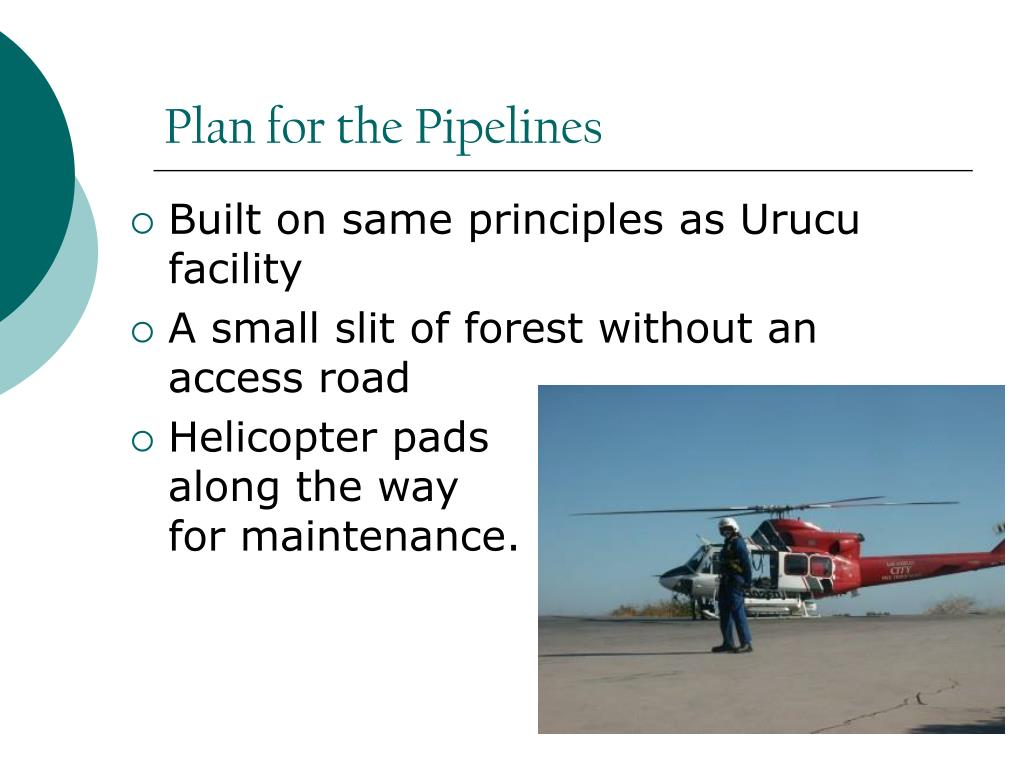 Plan for the Pipelines