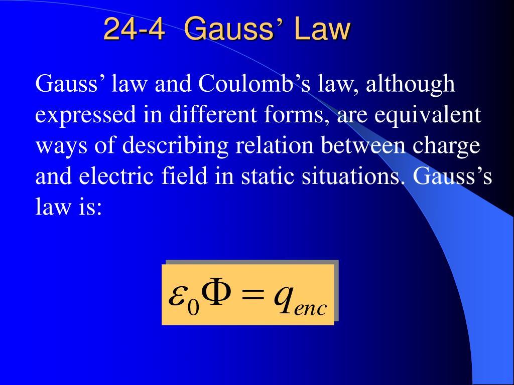 24-4  Gauss