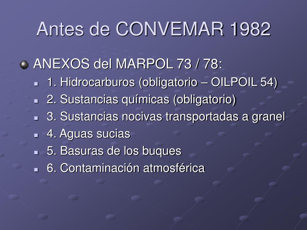 Antes de CONVEMAR 1982