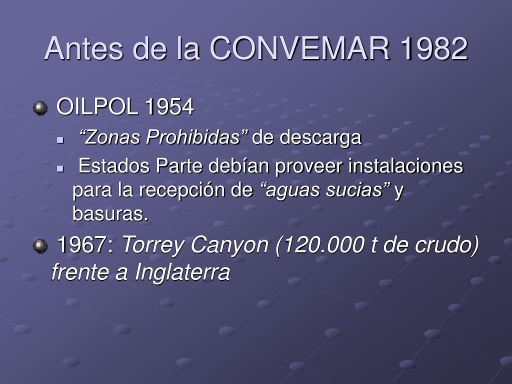 Antes de la CONVEMAR 1982