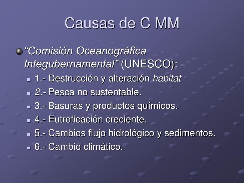 Causas de C MM