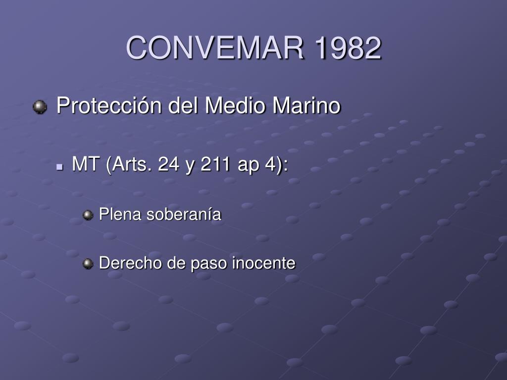 CONVEMAR 1982