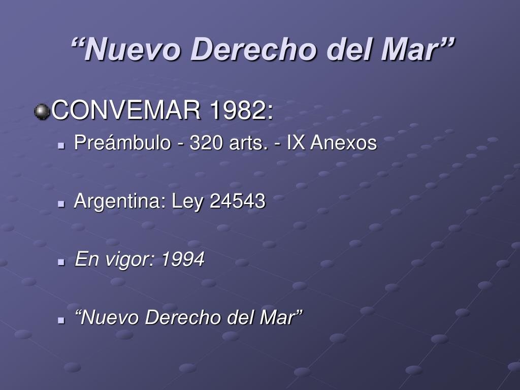 """""""Nuevo Derecho del Mar"""""""