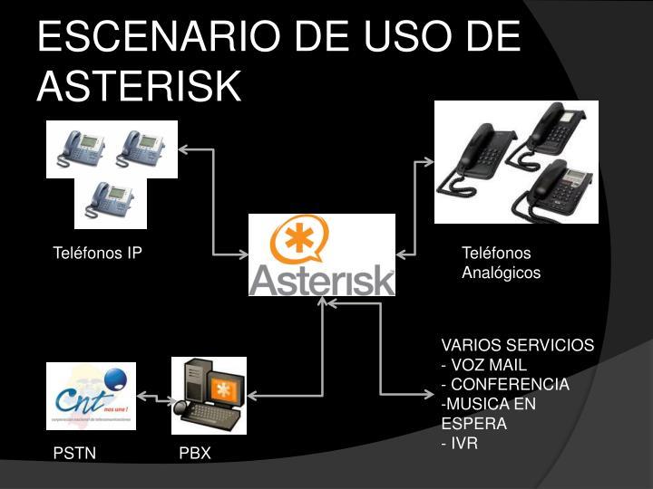 ESCENARIO DE USO DE ASTERISK