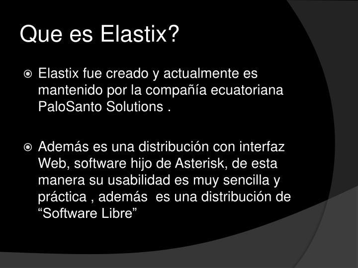 Que es Elastix?