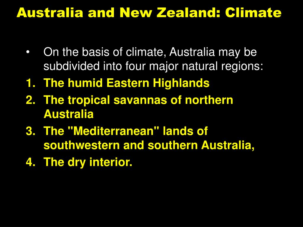 Australia and New Zealand: Climate