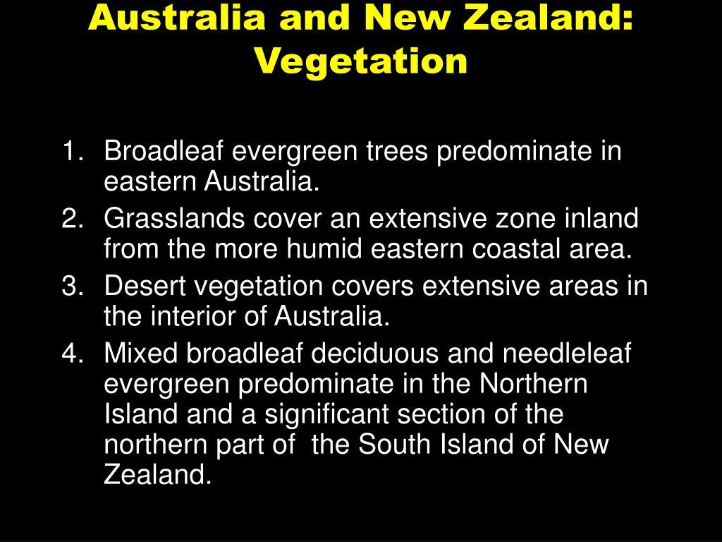Australia and New Zealand: Vegetation