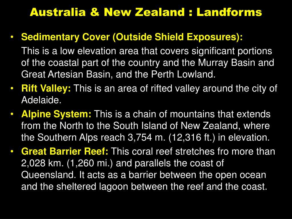Australia & New Zealand : Landforms