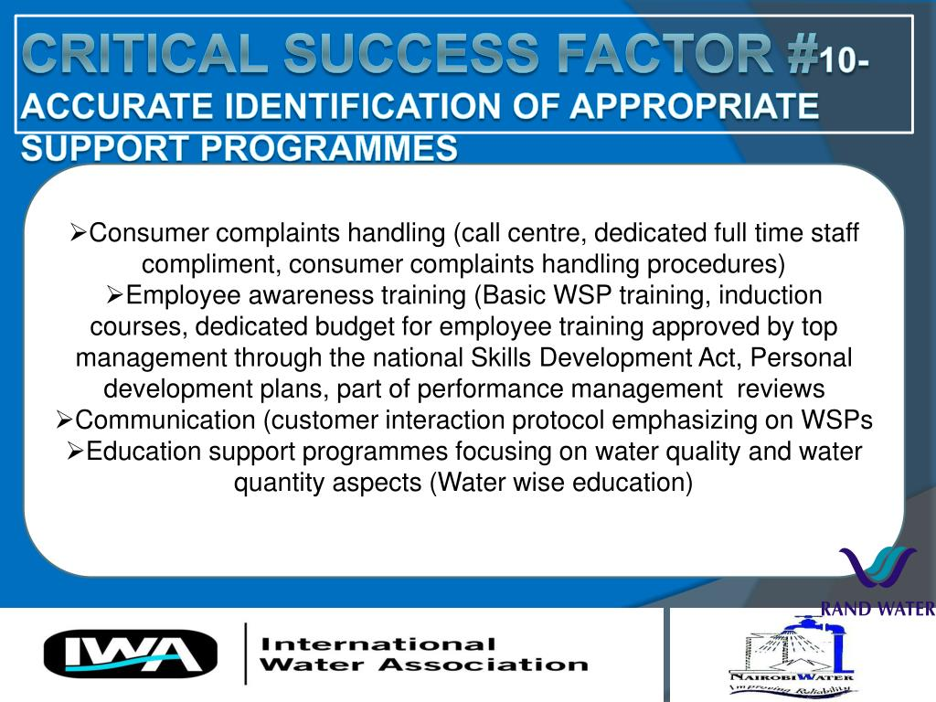 Consumer complaints handling (call centre, dedicated full time staff compliment, consumer complaints handling procedures)