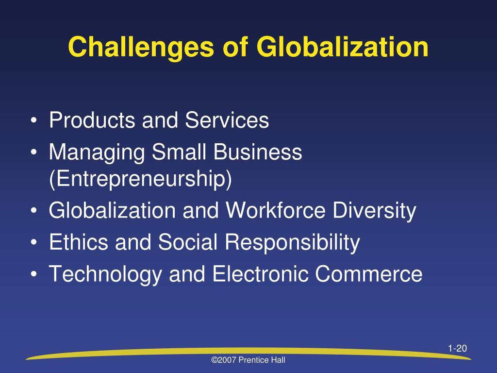 Challenges of Globalization