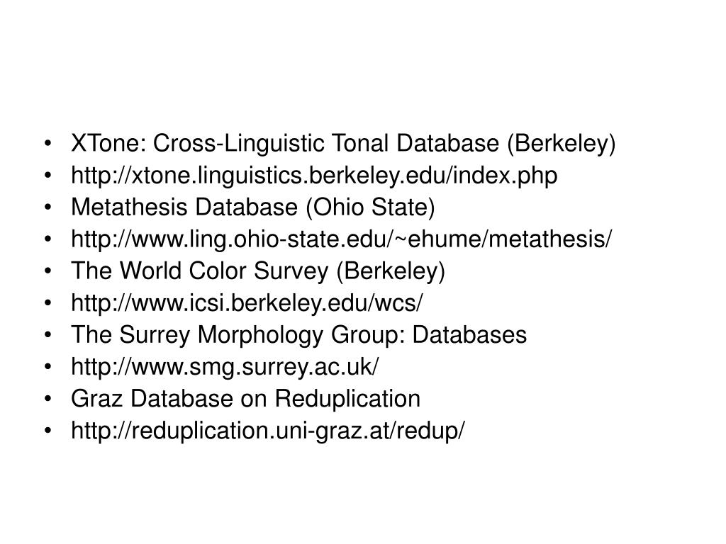 XTone: Cross-Linguistic Tonal Database (Berkeley)