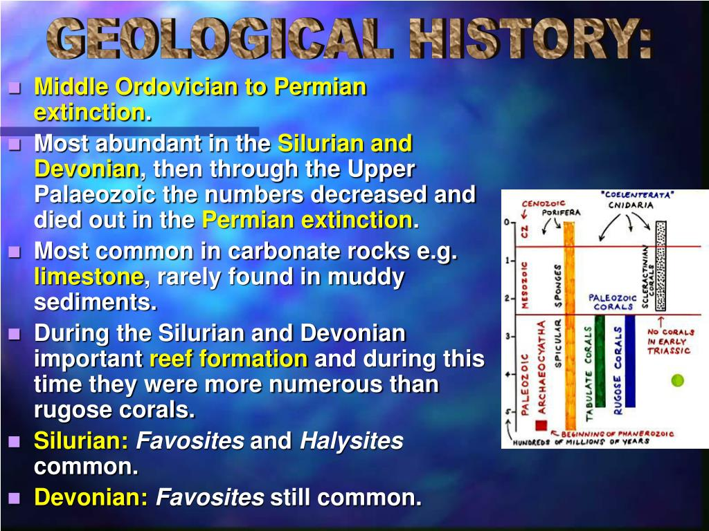 GEOLOGICAL HISTORY: