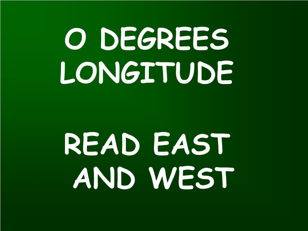 O DEGREES