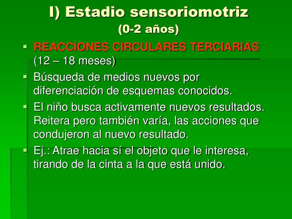 I) Estadio sensoriomotriz
