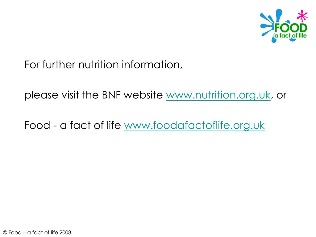 For further nutrition information,