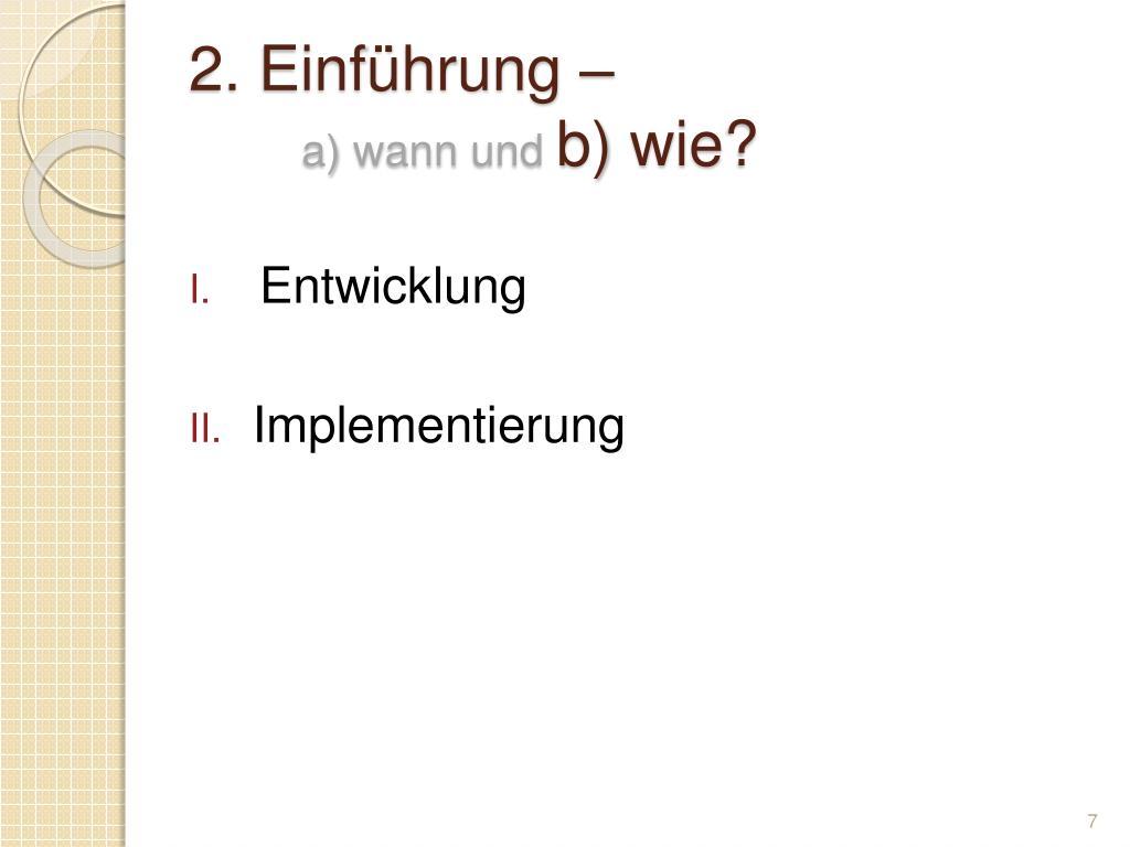 2. Einführung –