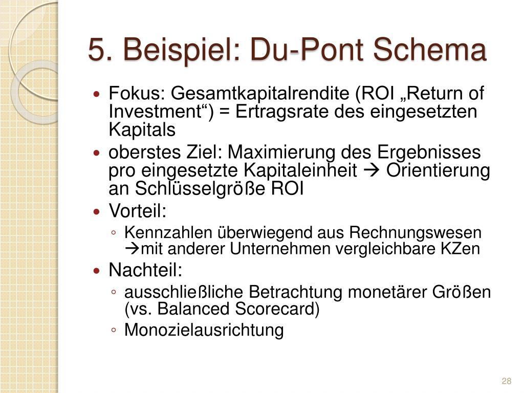 5. Beispiel: Du-Pont Schema