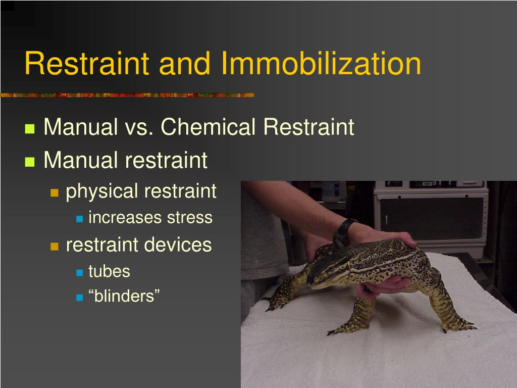 Restraint and Immobilization