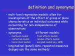 definition and synonyms