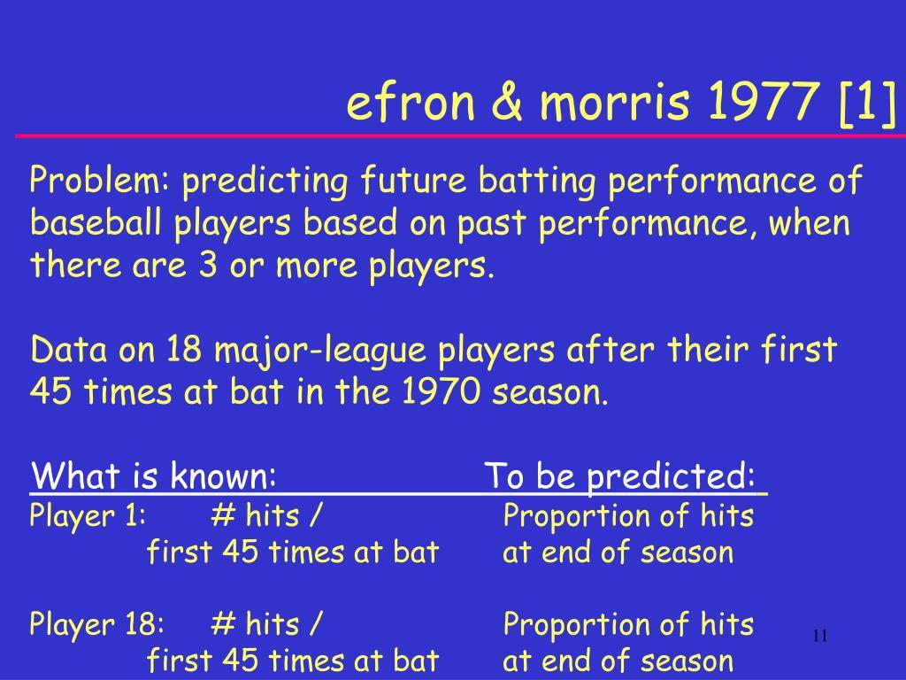 efron & morris 1977 [1]