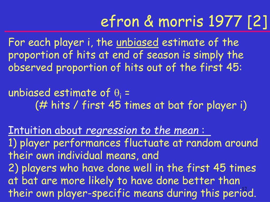 efron & morris 1977 [2]