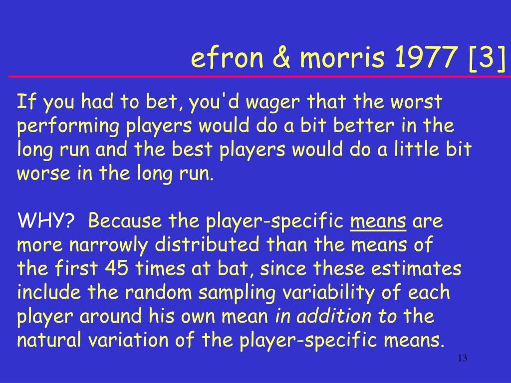 efron & morris 1977 [3]