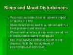 sleep and mood disturbances