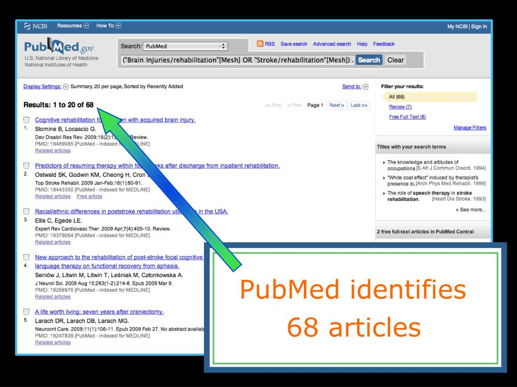 PubMed identifies