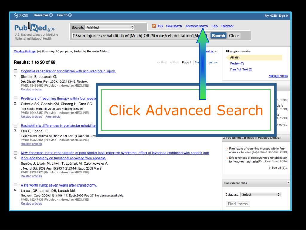 Click Advanced Search