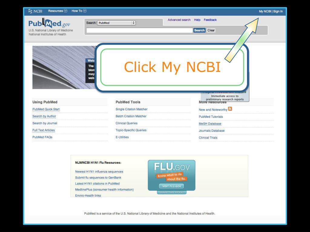 Click My NCBI