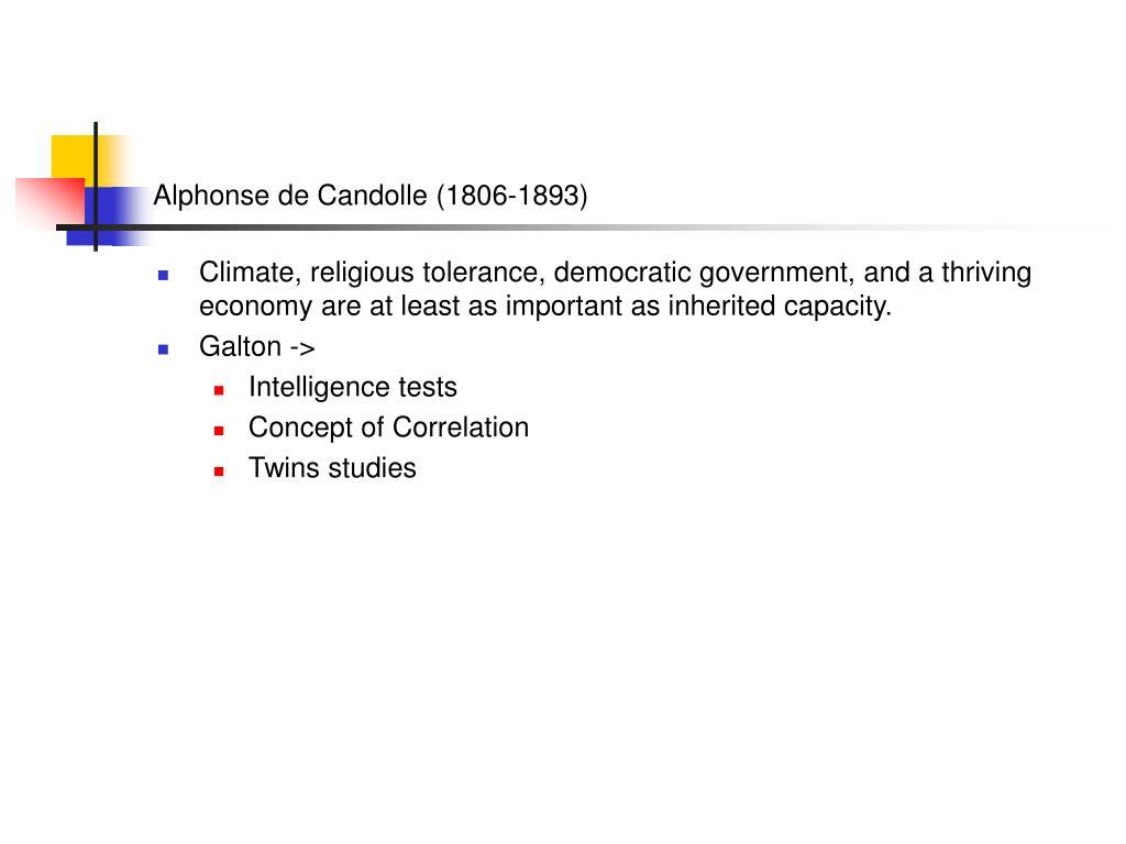 Alphonse de Candolle (1806-1893)