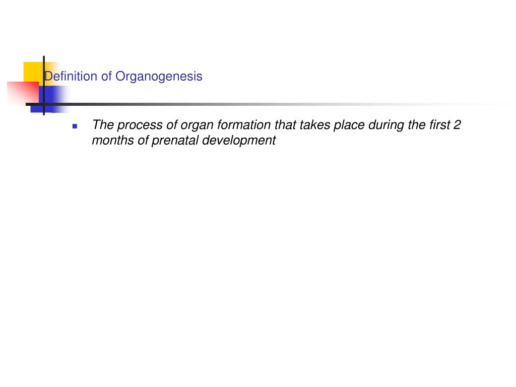 Definition of Organogenesis