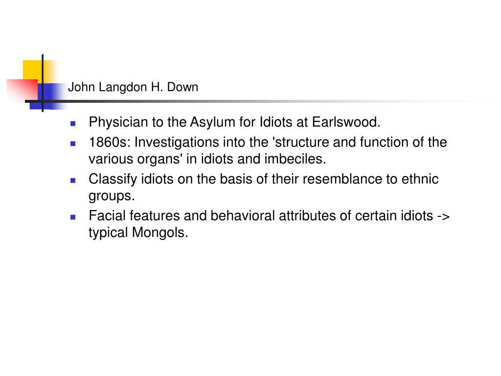 John Langdon H. Down