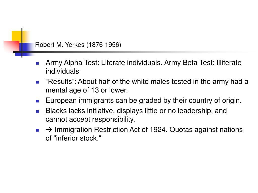 Robert M. Yerkes (1876-1956)