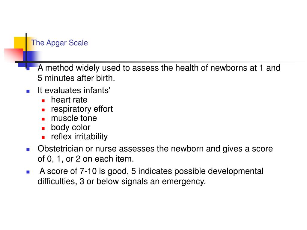 The Apgar Scale