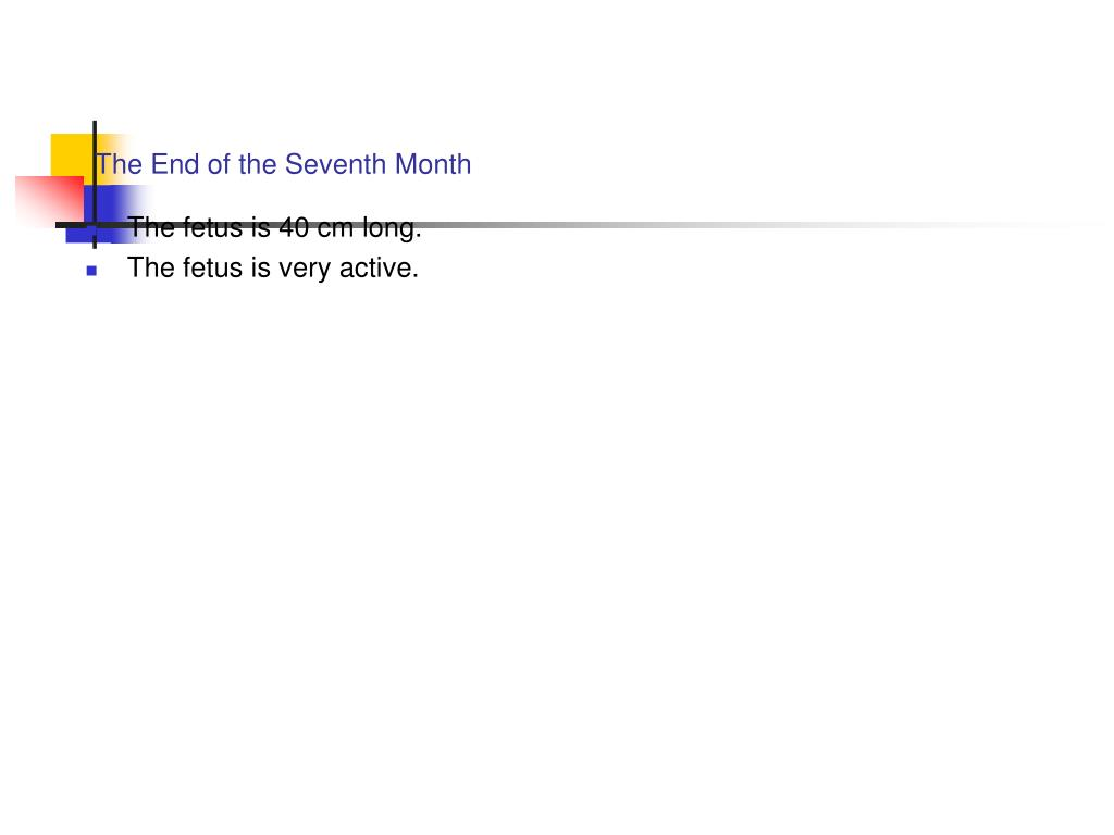 The End of the Seventh Month