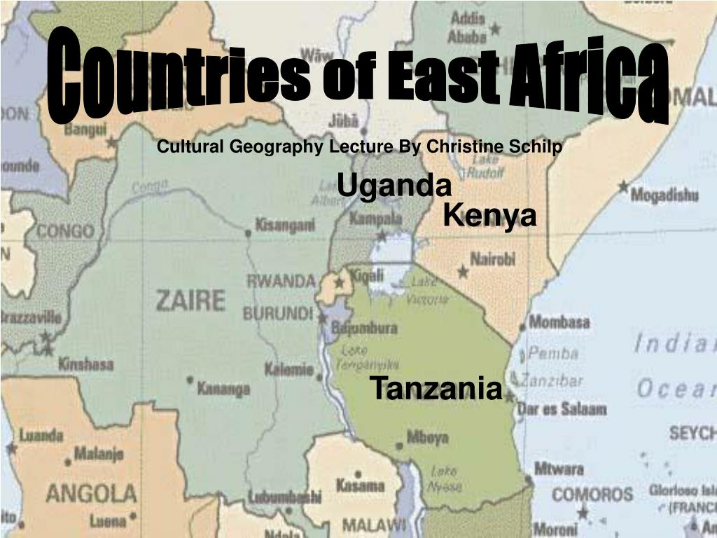 Countries of East Africa