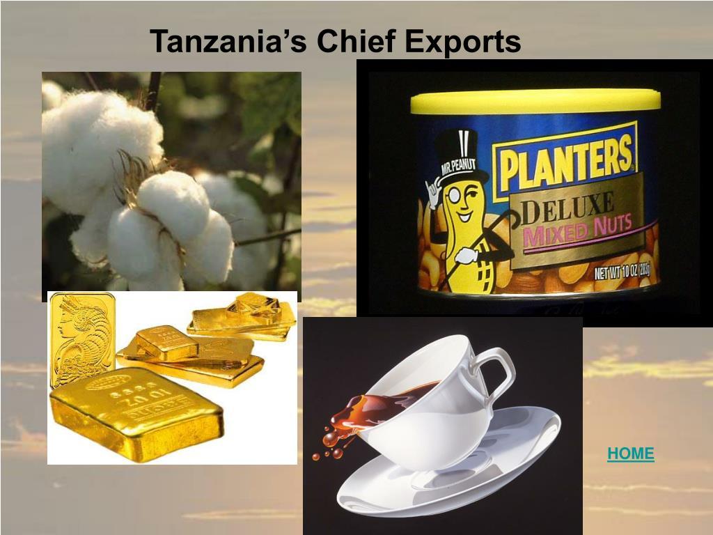 Tanzania's Chief Exports