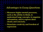 advantages to essay questions