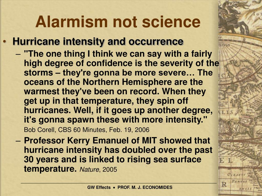 Alarmism not science